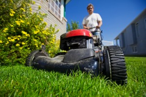 What is the recommended mowing height for my lawn?
